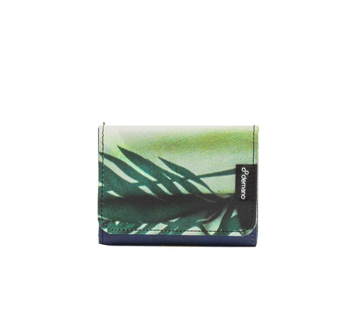 Portefeuille vegan en bache recyclee Porte-cartes Caterina