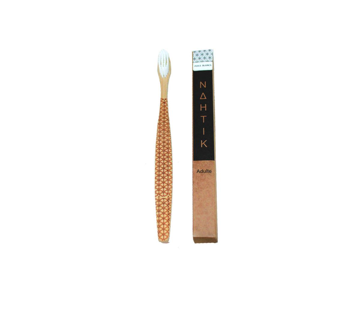 Brosse à dent gravée en bambou Brosse a dent gravée