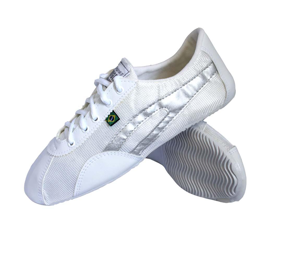 Chaussure Basket Slim Blanc/Argent
