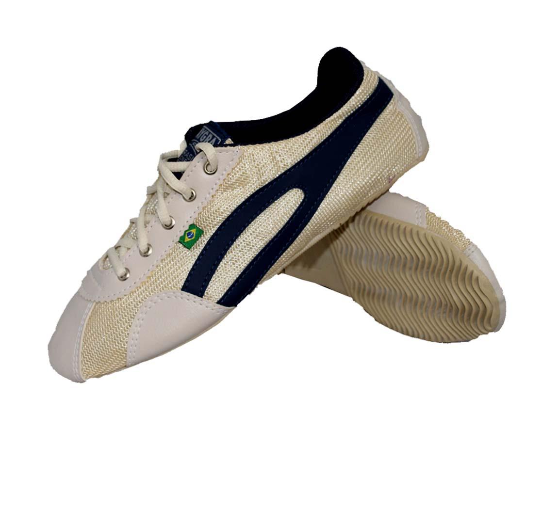 Chaussure Basket Slim Sable/Bleue