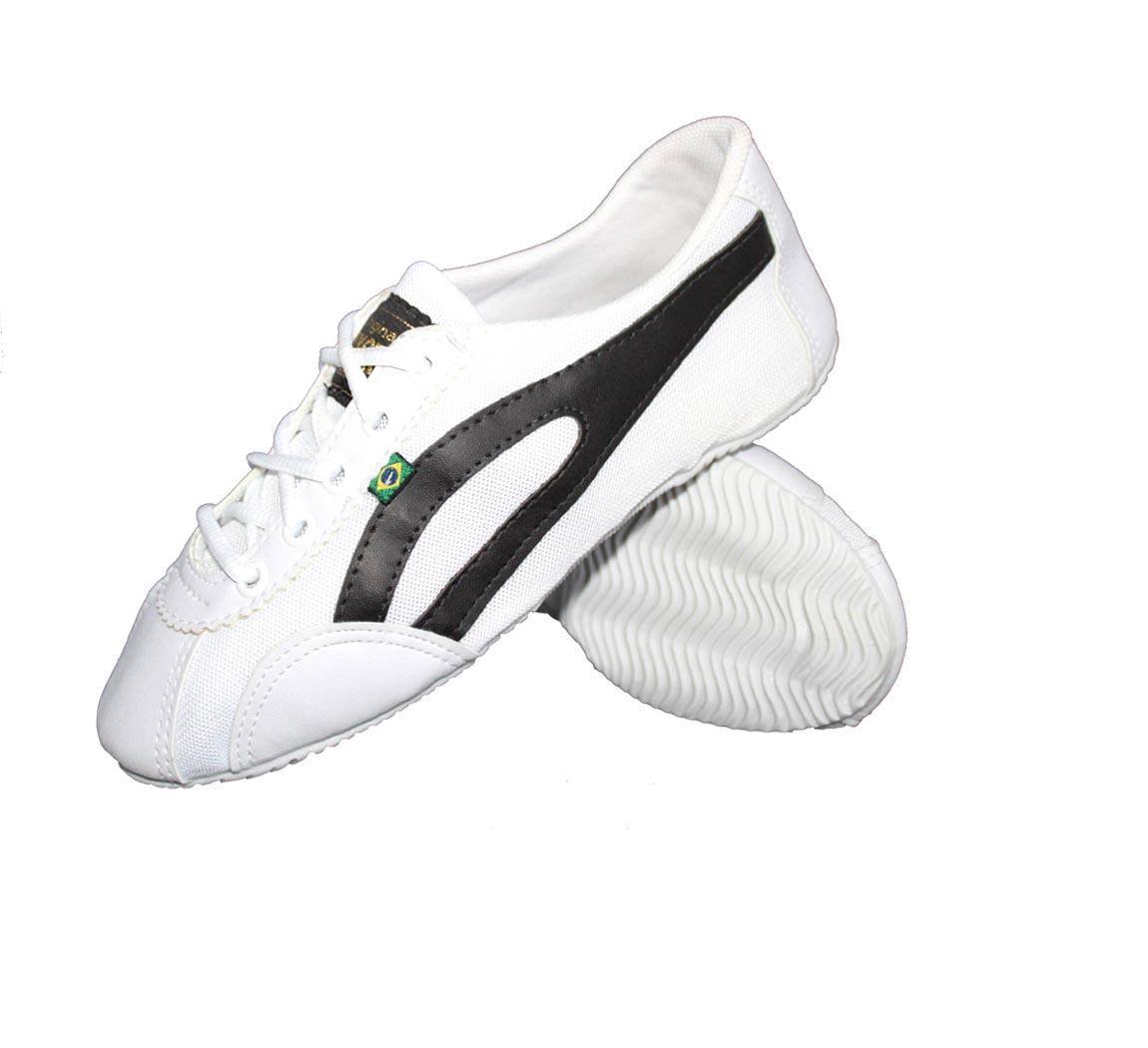 Chaussure Noire Slim Blanc/Noire