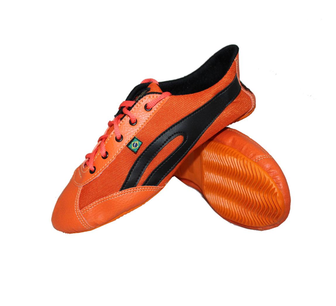 Chaussure femme Slim orange & noire