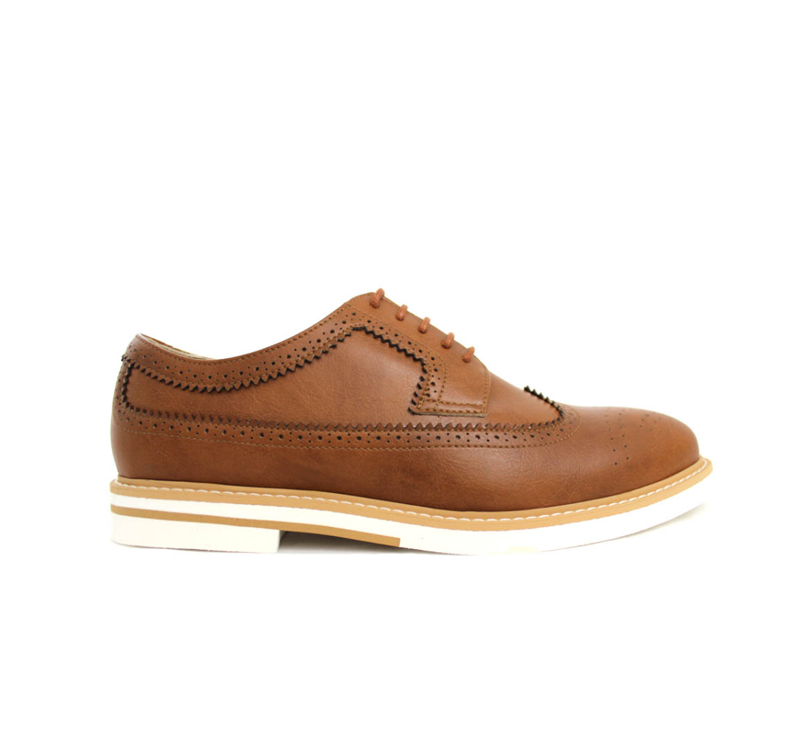 Derby vegan Contrast Sole Brogues