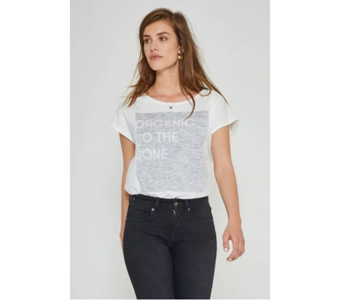Tee shirt femme coton bio Boxy Tee Cloud Dancer