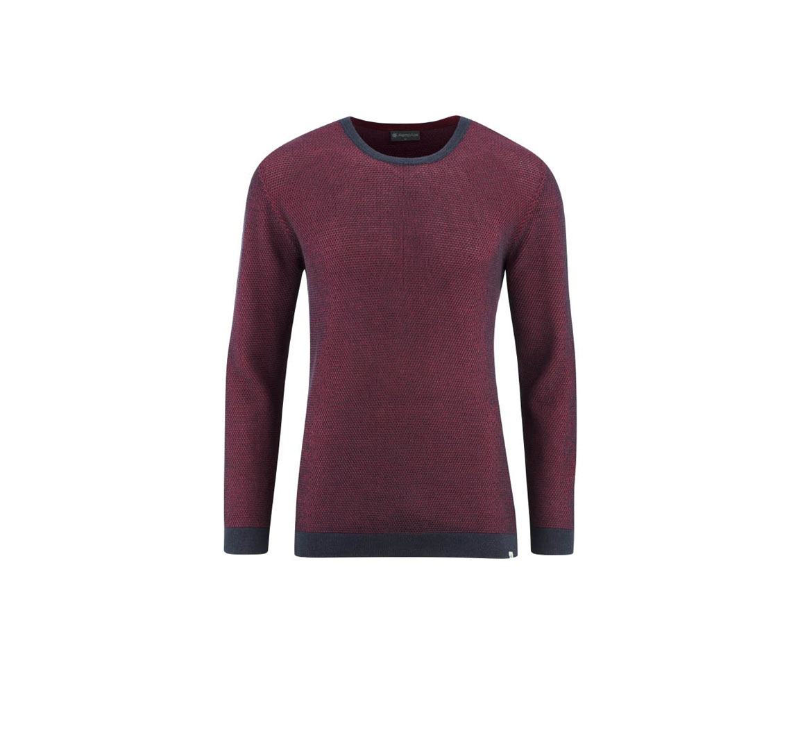 Pull fin homme en chanvre  Seed Stitched Pullover