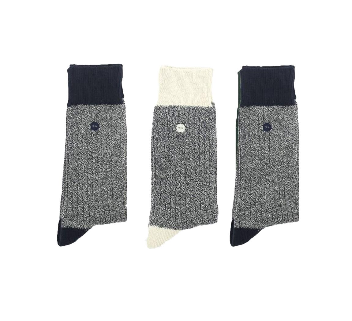 pack 3 chaussettes bicolores Pack 3 chaussettes Faguo Bicolore