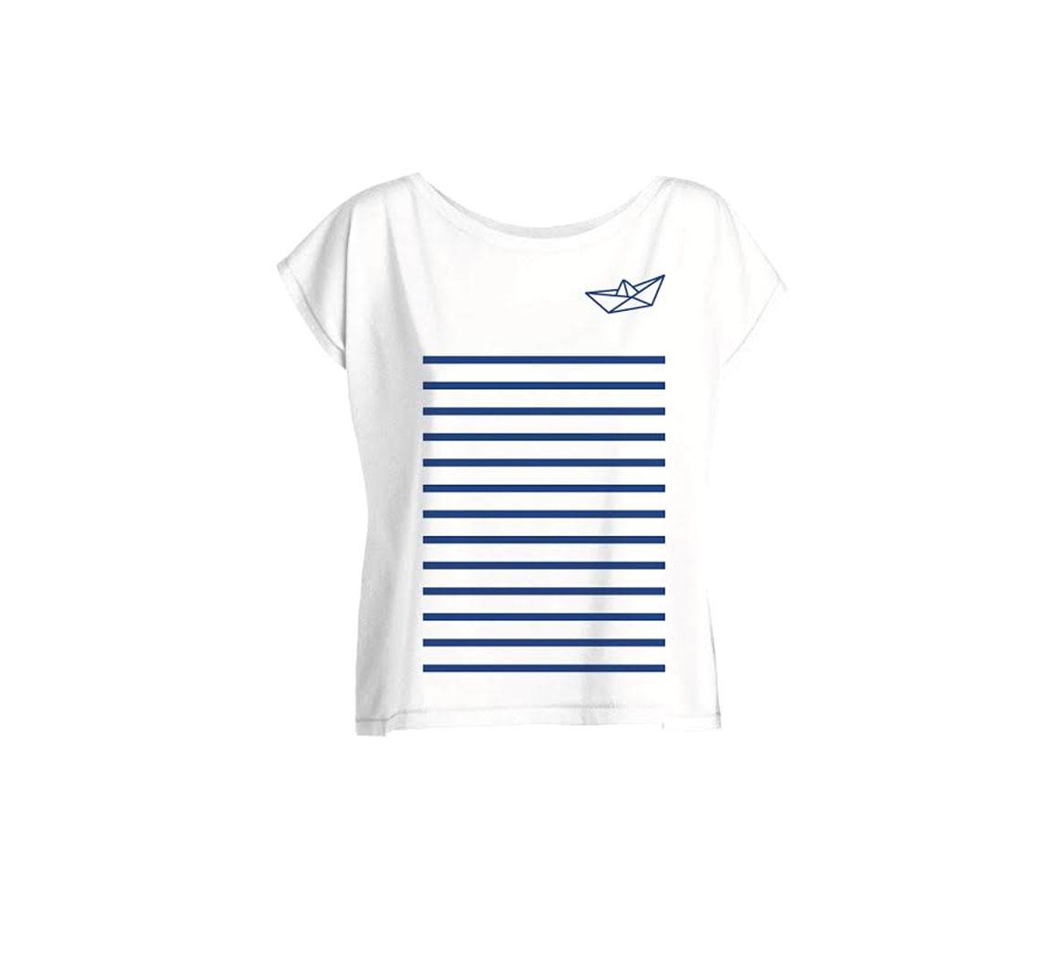 Vêtement femme T-shirt femme col bateau