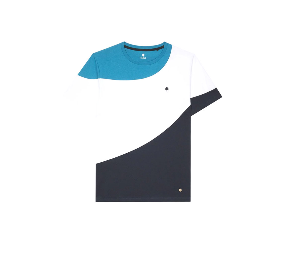 T shirt en coton recycle T shirt col rond Plesse