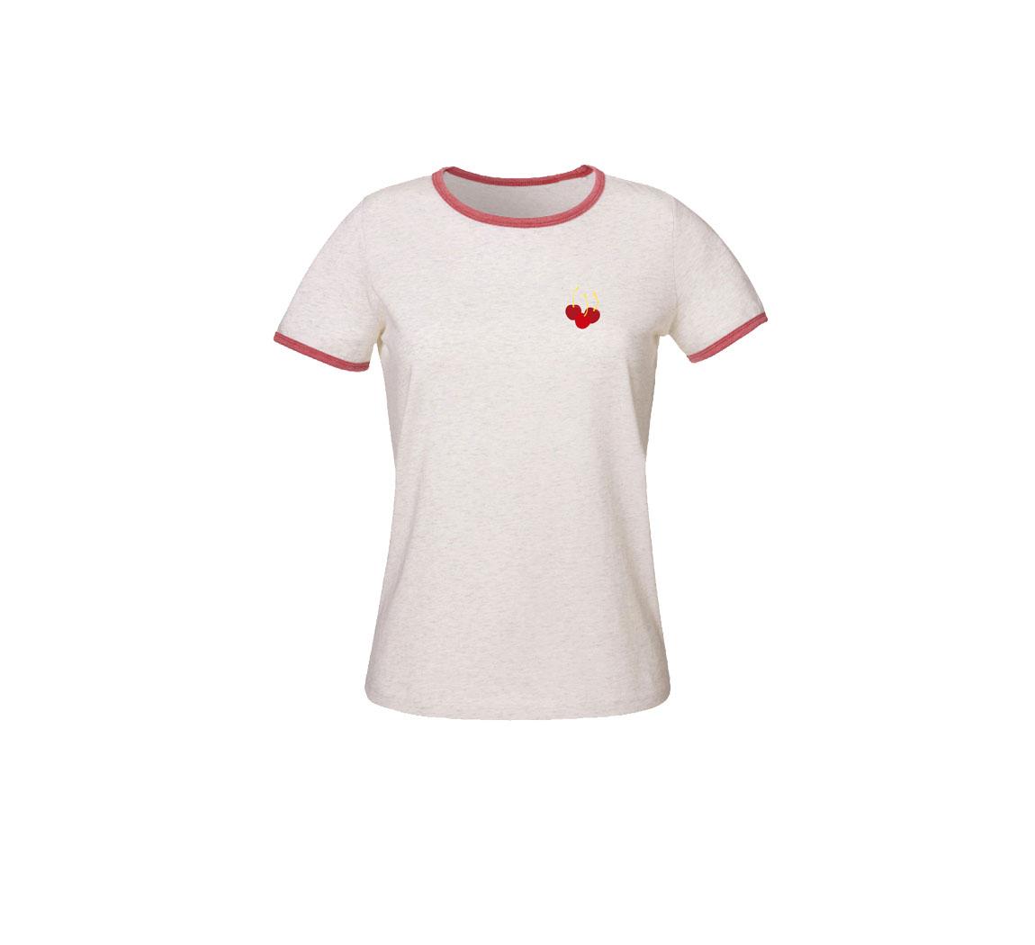 T-shirt femme avec broderie Bi-color T-shirt