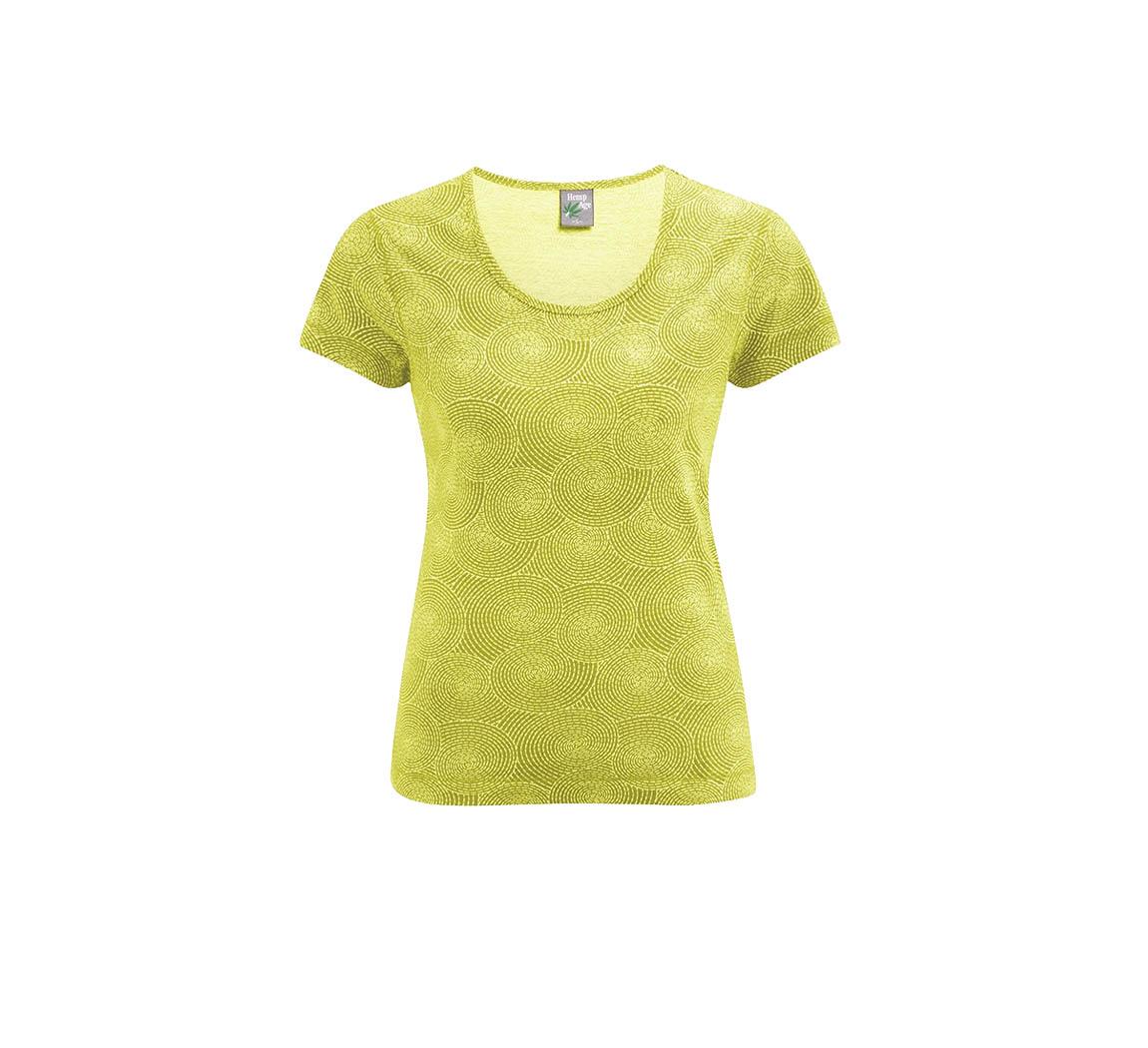 T-shirt femme en coton biologique T-shirt Spirale
