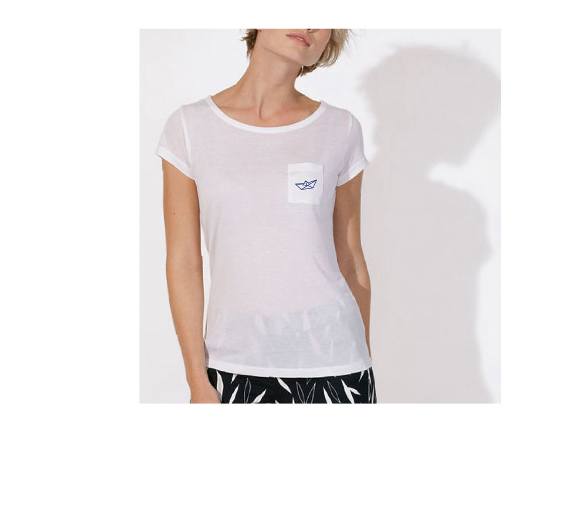 T-shirt femme en fibre de bois T-shirt femme modal