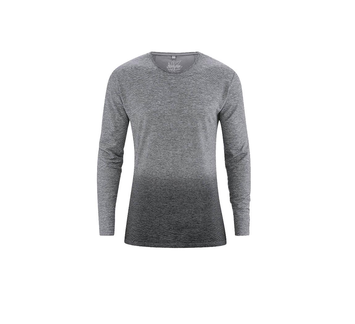 T-shirt homme manches longues en coton bio et chanvre T-shirt Felix