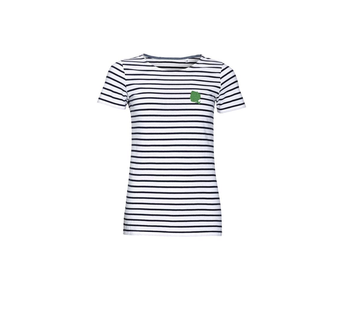 T shirt col rond femme Open Neck T-Shirt