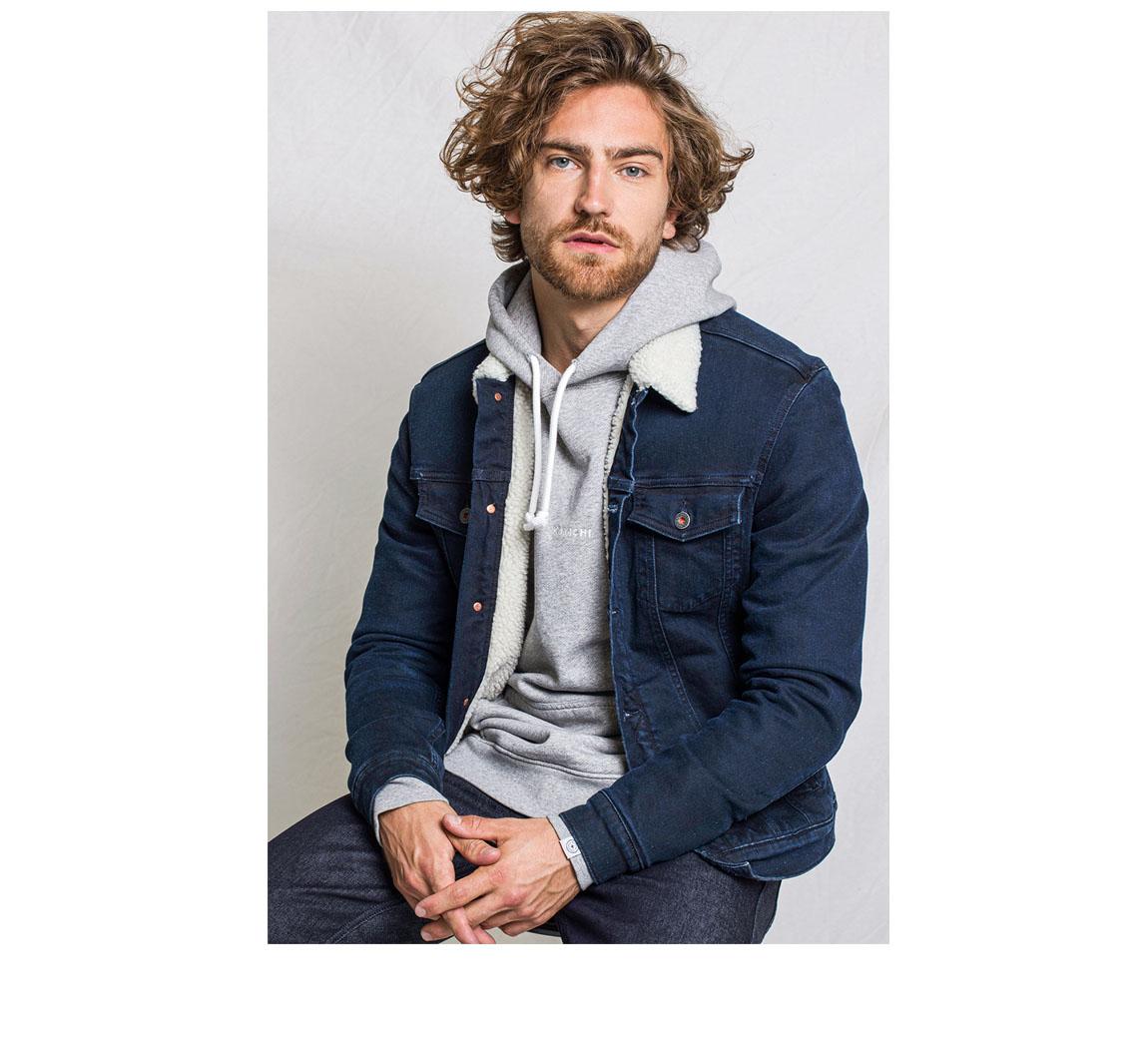 Veste homme en jean's Veste Bourne Sherpa Jacket