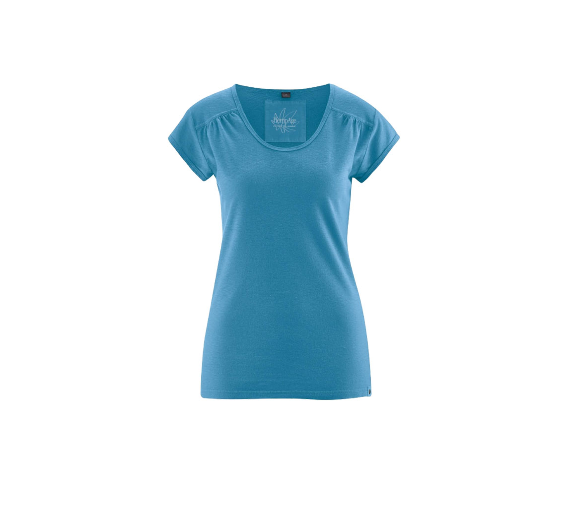 T shirt femme uni Decorated Fold T