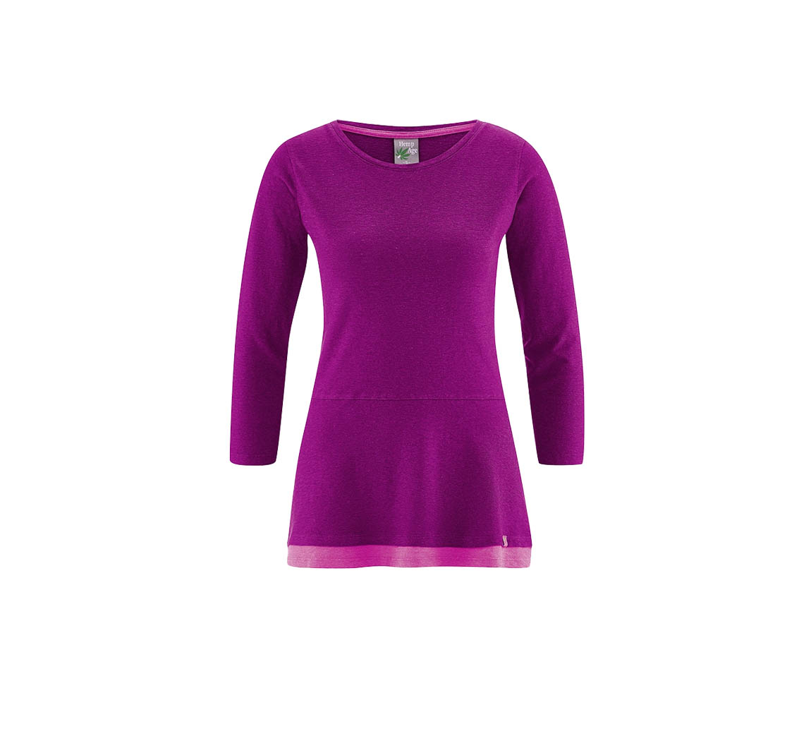 Vêtement femme en chanvre Long shirt Ida