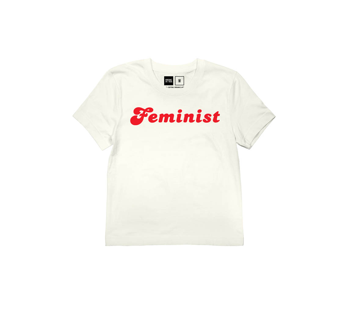 T-shirt femme en coton biologique T-shirt F Dedicated